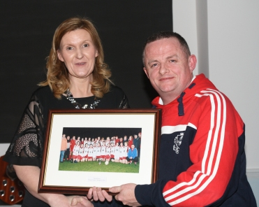 Sharon Roche Chairperson Inch Rovers & Peter O'Leary