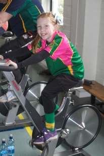 Ava McCarthy taking the spin in her stride