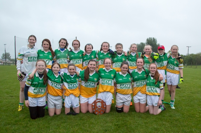 U14 Girls Bride Rovers Football Plate Winners
