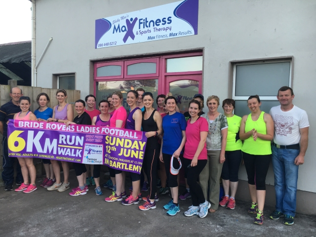 Pictured at the Launch of the Bride Rovers Ladies Football 6Km Run & Walk are members of the club and members of Shelly Mac's Max Fitness (Main Sponsor) which takes place in Bartlemy on Sunday 12th June at 12noon.