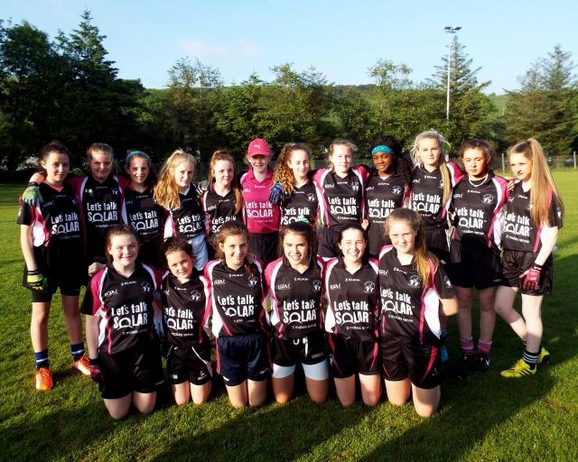 Midleton U 14 Ladies Footballl Team in the County C semi Final next weekend