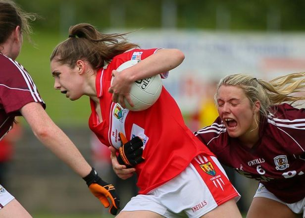 Minor Football - Grace Culloty in action against Galway