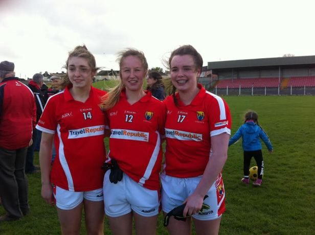 : Cork Minor Ladies Football Grace Culloty (Bride Rovers) Abbie Scannell (Fermoy) Laura Quirke (Bride Rovers)