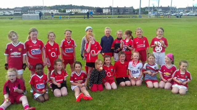 ​U8s at last league game in Carraigtwohill