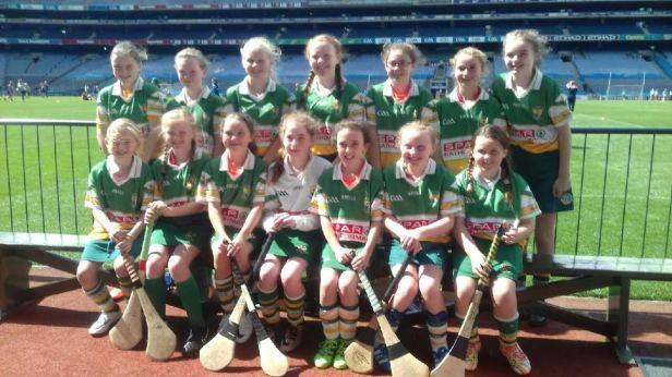 Bride Rovers U12 Camogie Team who played in  Croke Park.