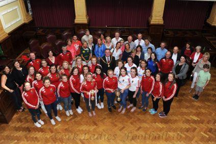 Cork Ladies' Football Minor Team at City Hall