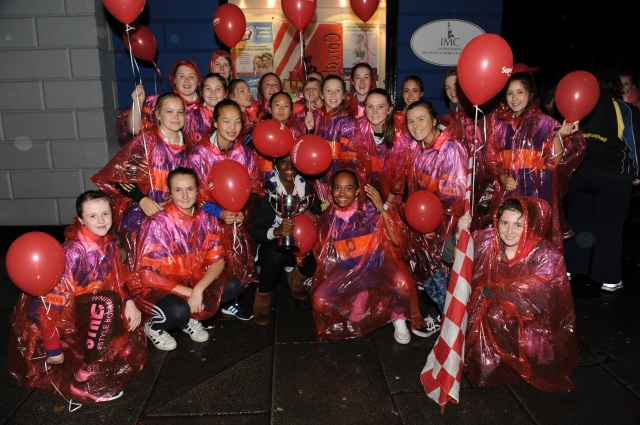 Carrigtwohill U 16 County Champions who were introduced to the Crowd at the Cork Homecoming on Monday night