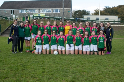 junior 13 a side team who played inch in the county final.