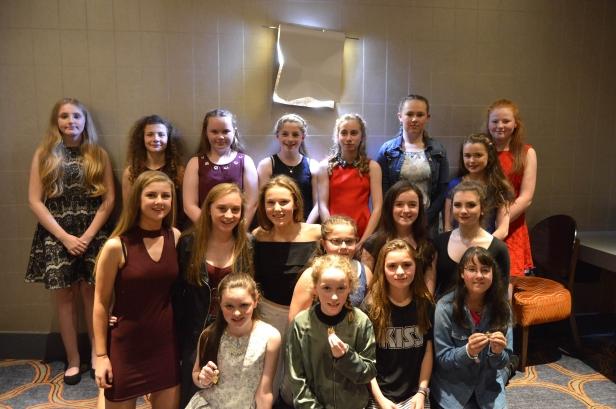U 14 Girls at the social