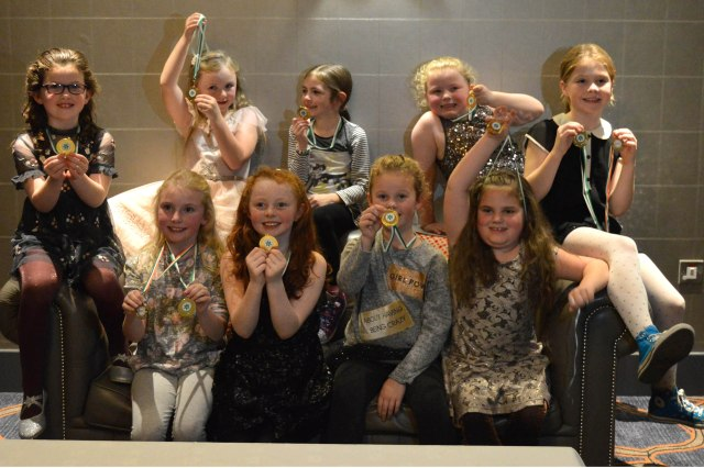 Lisgoold / Leamlara U 8 girls at the social