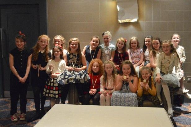 U 10 girls at the social
