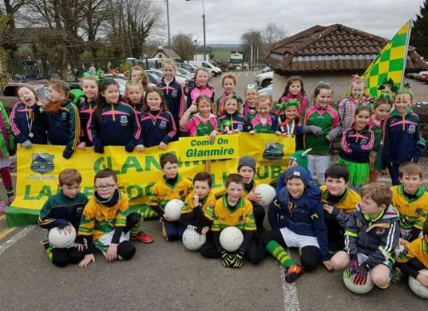 our girls who participated in the upper glanmire parage